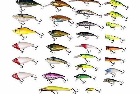 FreeFisher 30pcs Super Fishing Lure New Collection Floating with Rattles Color Random C0