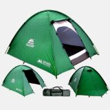 3 Man Double Skinned Green Tent