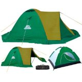 4 Man Double Skinned Tent Sand Yellow/Green