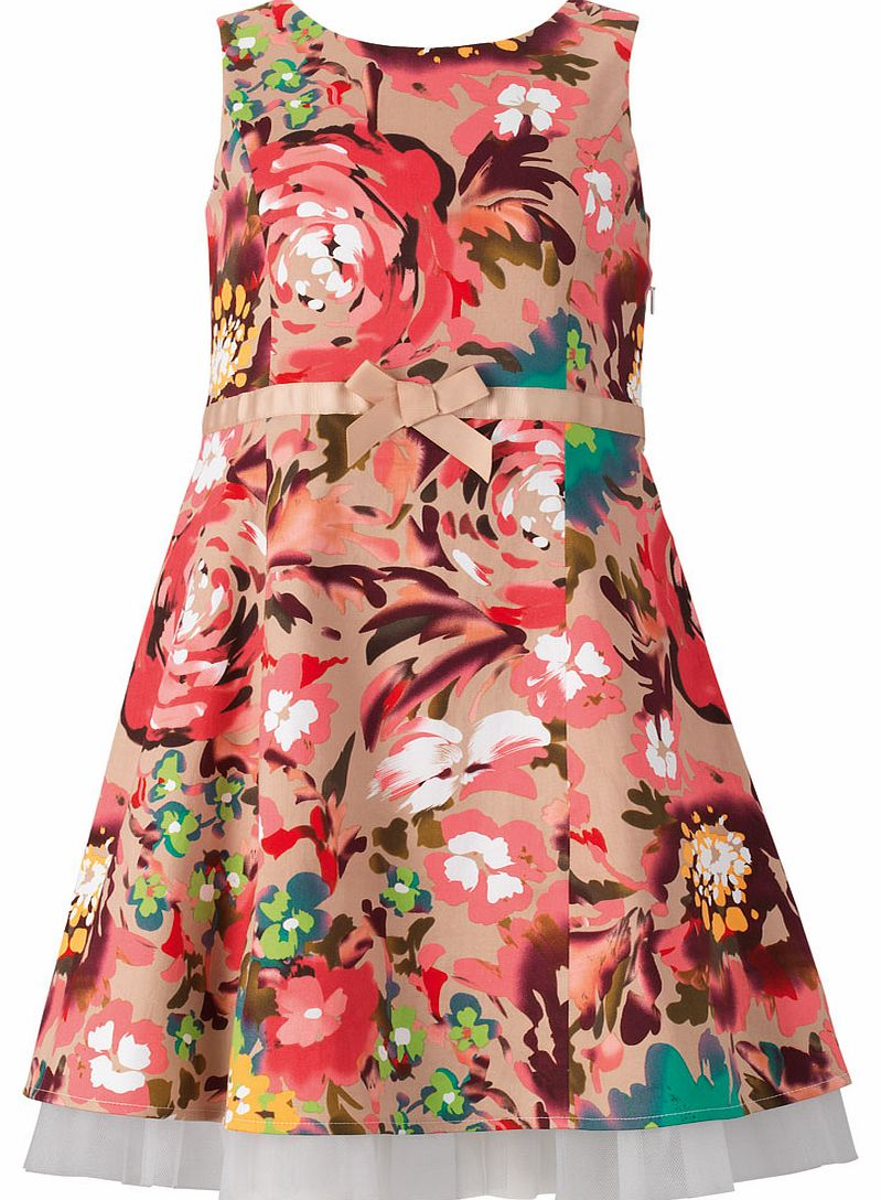 Freespirit Girls Floral Fit and Flare Dress