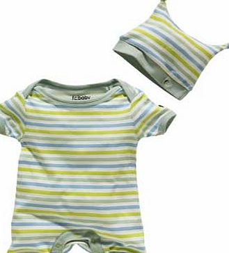 French Connection Green Stripe Baby 2 piece Gift