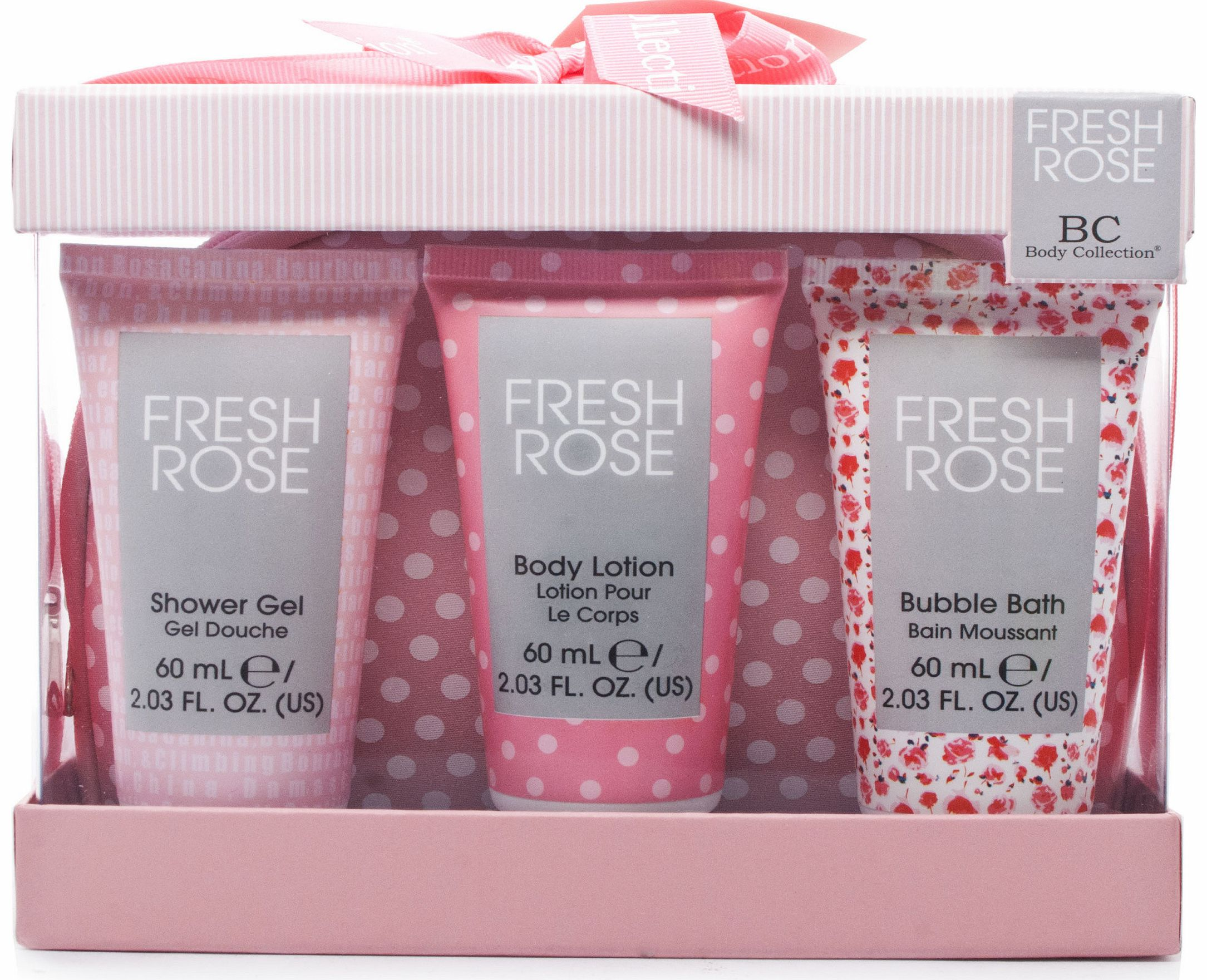 Rose Bath & Body Travel Essentials