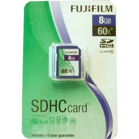 Fuji 8GB SDHC Class 6 8Gb Secure Digital Card