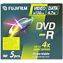Fuji DVD-R 4.7GB 4x Speed Jewel Case x5