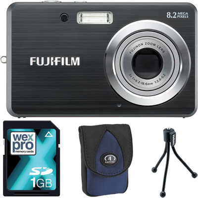 Finepix J10 Black Compact Camera with Bag,