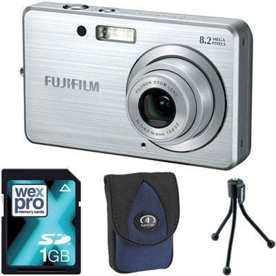Finepix J10 Silver Compact Camera with Bag,