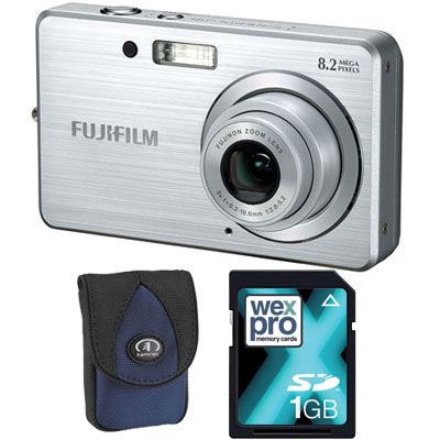 Finepix J10 Silver Compact Camera with Bag