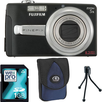 Finepix J50 Black Compact Camera with Bag,
