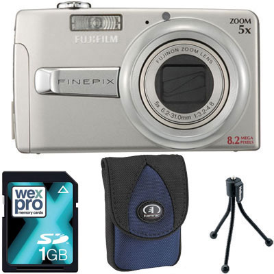 Finepix J50 Silver Compact Camera with Bag,