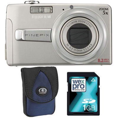Finepix J50 Silver Compact Camera with Bag