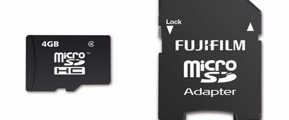 Fujifilm 4 GB Micro SD Card, NM00100A, Class 4 Micro-SDHC