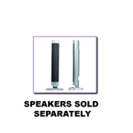 P50ST01S silver speakers stands