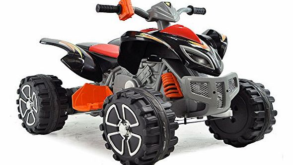 Electric Ride On Quad Black, Blue, Red, Yellow (Black)