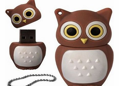 FunnyHouse 4GB Novelty Cute Brown Owl USB 2.0 Flash Drive Data Memory Stick Device