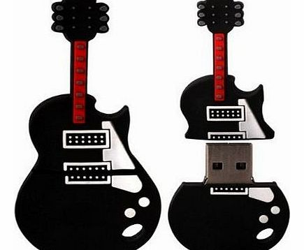 FunnyHouse 8GB Novelty Cute Guitar USB 2.0 Flash Drive Data Memory Stick Device