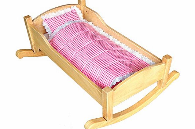 Unique Handmade Wooden Dolls Bed that also can be turned in to a cradle SALE! SALE! SALE!
