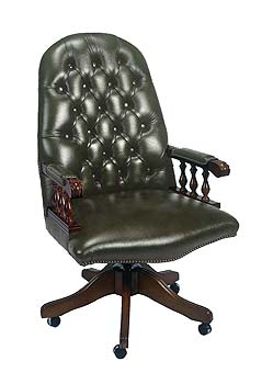 Furniture123 Admiral Leather Swivel Chair