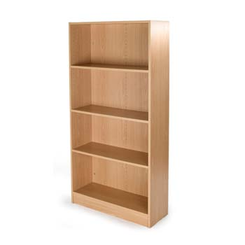 Bromley 4 Shelf Bookcase in Beech