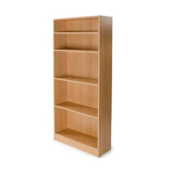 Bromley 5 Shelf Bookcase in Beech