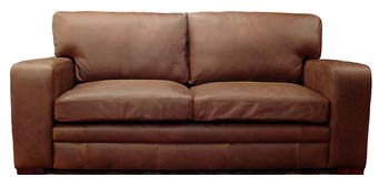 Bronx Leather 3 Seater Sofabed
