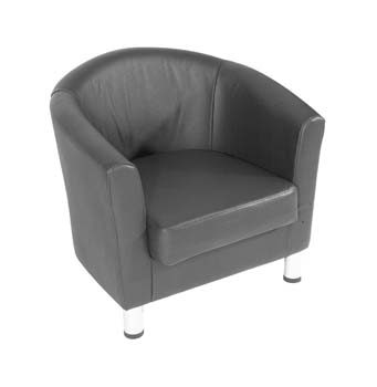 Furniture123 Cambridge 501 Leather Faced Reception Chair