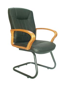 Furniture123 Cannes 100 Leather Faced Managers Chair