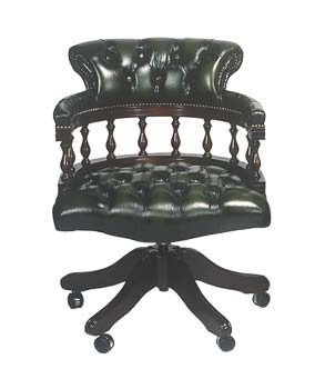 Furniture123 Captain Leather Swivel Chair