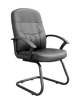 Furniture123 Cavalier 100 Leather Faced Managers Chair