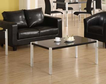 Charm High Gloss Coffee Table in Black
