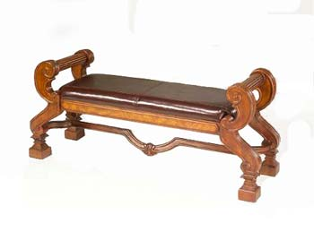 Chateau Cherry and Leather Bench