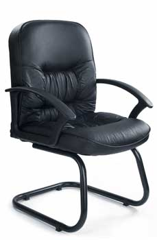 Furniture123 Contract Leather 6062 Visitor Office Chair