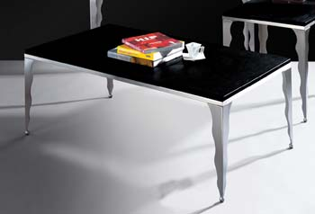 Dalton Black Glass Coffee Table - WHILE STOCKS