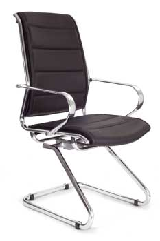 Furniture123 Designer Chrome 8004 Visitor Office Chair