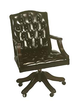 Furniture123 Gainsborough Leather Swivel Chair