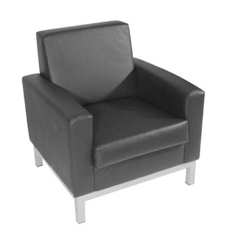 Furniture123 Helsinki 501 Leather Faced Reception Chair