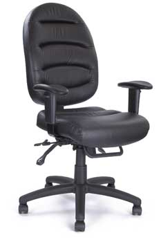 Furniture123 Italian Leather 1221 Office Chair