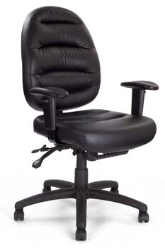 Furniture123 Italian Leather 1222 Office Chair