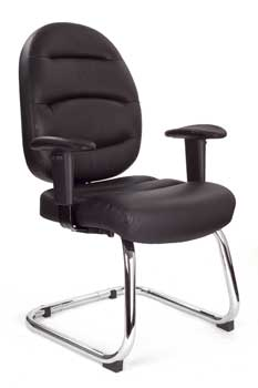 Furniture123 Italian Leather 1223 Visitor Office Chair