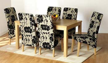 Kensington Dining Set in Bouquet Fabric