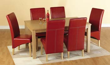 Kensington Dining Set in Red - FREE NEXT DAY