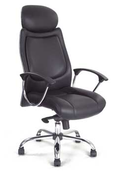 Furniture123 Leather Classic 9500 Office Chair