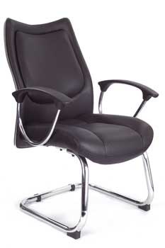Furniture123 Leather Classic 9503 Visitor Office Chair