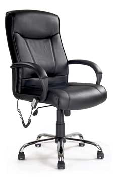 Furniture123 Leather Executive Massage Office Chair