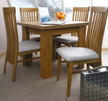 Longley Butterfly Extending Dining Set - WHILE