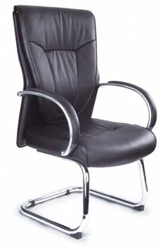 Furniture123 Luxury Leather 1926 Visitor Office Chair