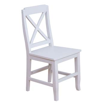 Furniture123 Maine White Visitors Office Chair