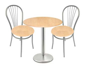 Milan Satin and Beech Dining Set with 4 Chairs