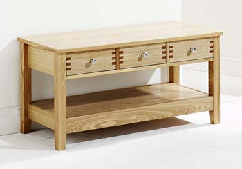 Furniture123 Oliver Light Oak 3 Drawer Coffee Table Review Compare Prices Buy Online