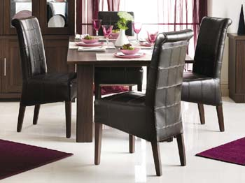 Radley Butterfly Extending Dining Set With Brown
