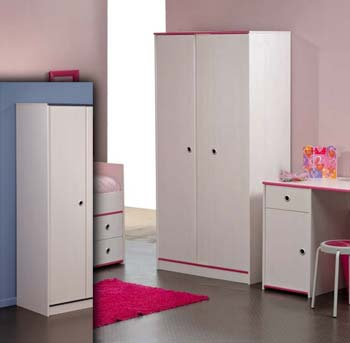 Smoozy Pink or Blue 2 Door Wardrobe